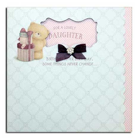 Lovely Daughter Birthday Vintage Forever Friends Card