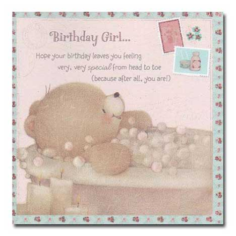 Birthday Girl Vintage Forever Friends Card