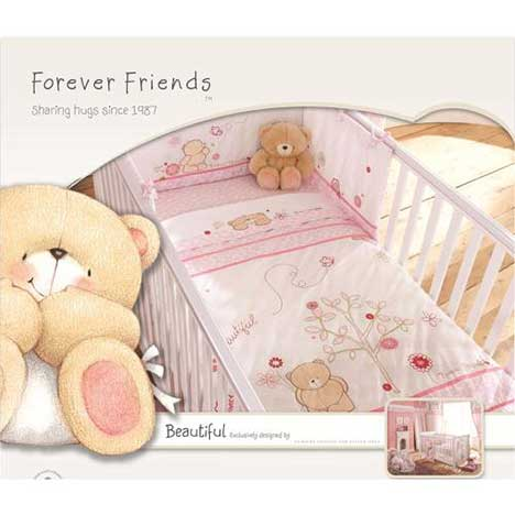 Forever Friends Beautiful Cot/Cot Bed Quilt
