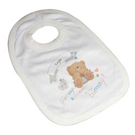 Personalised Forever Friends Baby Bib 0 - 3 Months