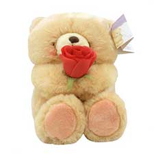 "10"" Holding Rose Forever Friends Bear"