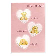 New Baby Girl Forever Friends Card