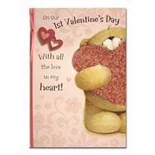 1st Valentines Forever Friends Card