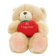"10"" No 1 Teacher Forever Friends Bear"