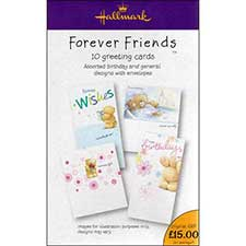 10 Pack Assorted Forever Friends Greeting Cards
