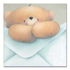 Bear with Envelope Softly Drawn Forever Friends Card