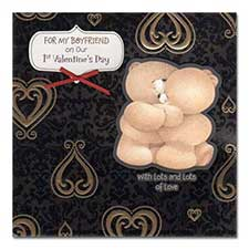 Boyfriend 1st Forever Friends Valentines Day Card