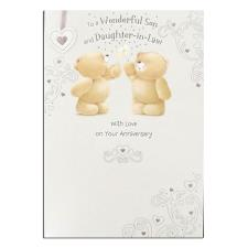 Son & Daughter-In-Law Forever Friends Anniversary Card
