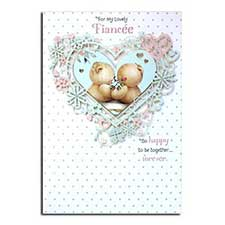 Lovely Fiancee Forever Friends Birthday Card