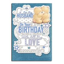 For My Husband Forever Friends Birthday Card