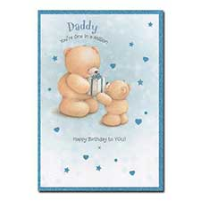 Daddy One In a Million Forever Friends Birthday Card