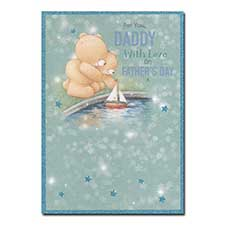 Daddy on Fathers Day Forever Friends Card