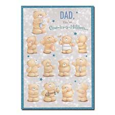 Dad One-in-a-Million Forever Friends Father's Day Card