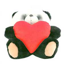 "10"" Panda Forever Friends Bear with Red Heart"