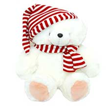 "16"" White Hat & Scarf Forever Friends Bear"
