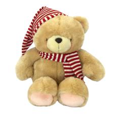 "22"" Striped Hat & Scarf Forever Friends Bear"