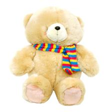 "16"" Forever Friends Bear with Colourful Scarf"