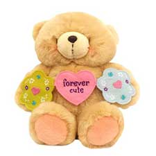 "10"" Forever Cute Banner Forever Friends Bear"