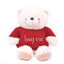 "22"" Hug Me T-Shirt Forever Friends White Bear"