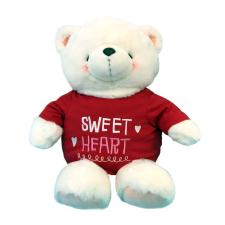 "22"" White Sweetheart Forever Friends Bear"