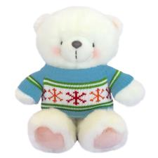 "10"" Bright Snowflake Jumper Forever Friends White Bear"