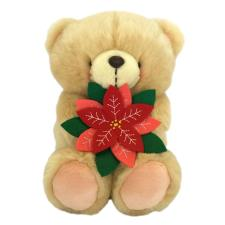 "10"" Forever Friends Bear with Poinsettia"