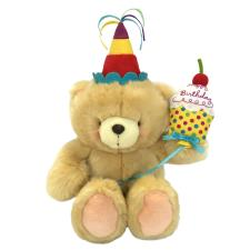 "10"" Cupcake Birthday Cake Forever Friends Bear"