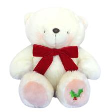 "16"" White Christmas Holly Forever Friends Bear"