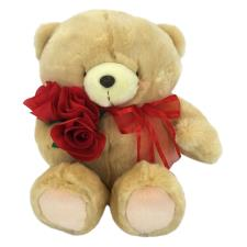 "16"" Rose Bouquet & Bow Forever Friends Bear"