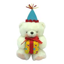 "10"" White Forever Friends Bear with Present"
