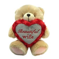 "10"" Beautiful Wife Fluffy Heart Forever Friends Bear"