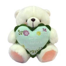 "10"" Best Mummy Ever Heart White Forever Friends Bear"