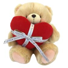 "10"" Red Padded Heart & Ribbon Forever Friends Bear"