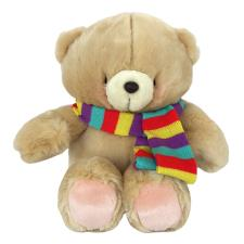 "16"" Striped Coloured Scarf Forever Friends Bear"