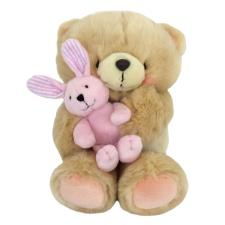 "10"" Holding Pink Bunny Forever Friends Bear"