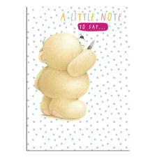 Forever Friends A Little Note Just To Say Cards (Pack of 8)