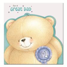 Great Dad Forever Friends Fathers Day Card