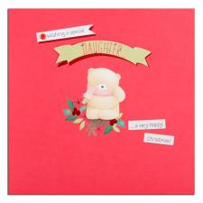 Daughter Forever Friends Square Christmas Card