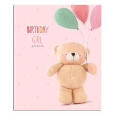 Birthday Girl With Balloons Forever Friends Card
