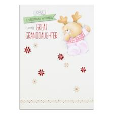 Great-Grandaughter Forever Friends Christmas Card