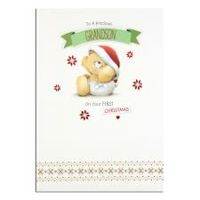 Grandson 1st Christmas Forever Friends Christmas Card