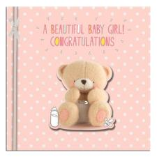 A Beautiful Baby Girl Forever Friends Congratulations Card