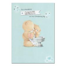 Grandson Christening Day Forever Friends Card