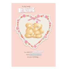 Girlfriend Birthday Large Forever Friends Card