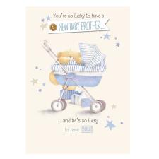 New Baby Brother Forever Friends Card
