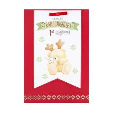 Granddaughters 1st Christmas Forever Friends Christmas Card