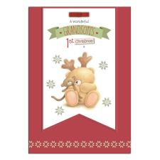 Grandsons 1st Christmas Forever Friends Christmas Card