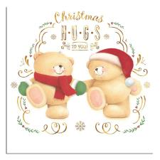 Christmas Hugs Forever Friends Christmas Card