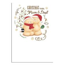 Mum & Dad Forever Friends Christmas Card