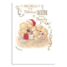Sister & Family Forever Friends Christmas Card